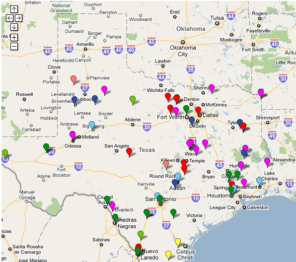 Map Of Texas Prisons